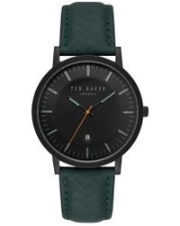 Ted Baker | David Leather Strap Watch | Lyst