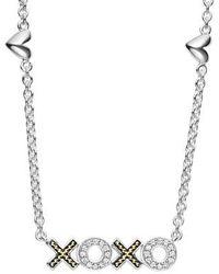 Lagos | Beloved Diamond Xoxo Chain Necklace | Lyst