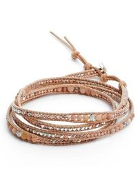 Chan Luu - Semiprecious Stone & Leather Wrap Bracelet - Lyst