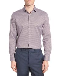 Calibrate - Trim Fit Non-iron Check Dress Shirt - Lyst