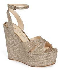 Jessica Simpson - Prena Platform Wedge Sandal - Lyst
