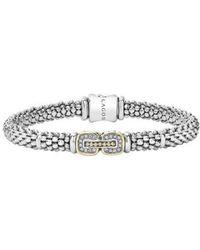 Lagos | 'cushion' Diamond Caviar Bracelet | Lyst