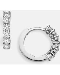 Roberto Coin - Diamond Huggie Hoop Earrings - Lyst