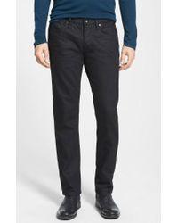 John Varvatos | 'bowery' Slim Straight Leg Jeans | Lyst
