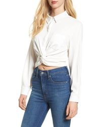 BISHOP AND YOUNG - Bishop + Young Alexandra Twist Blouse - Lyst