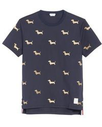 Thom Browne - Hector Embroidered T-shirt - Lyst