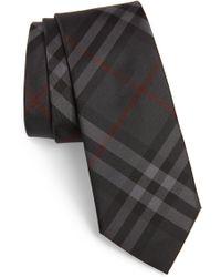 Burberry - Manston Check Silk Tie - Lyst