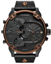 DIESEL - Diesel Mr. Daddy 2.0 Chronograph Leather Strap Watch - Lyst