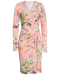Diane von Furstenberg - Julian Floral Silk Wrap Dress - Lyst