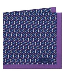 Ted Baker - Geometric Cotton Pocket Square - Lyst