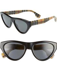 eef637e8e8 Lyst - Burberry 53mm Gradient Cat Eye Sunglasses in Black