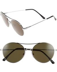 Electric - 'huxley' 53mm Round Sunglasses - - Lyst