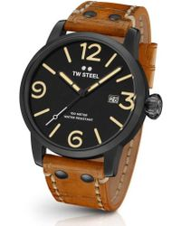 TW Steel | Maverick Leather Strap Watch | Lyst