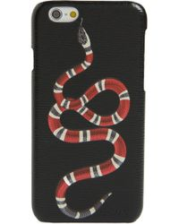 Gucci - Black Snake Print Iphone 8 Case - Lyst