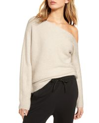 Treasure & Bond - One-shoulder Ribbed Sweater - Lyst