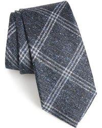 Calibrate - Devon Plaid Silk Blend Tie - Lyst