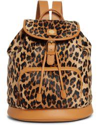MCM - Medium Leopard Backpack - - Lyst