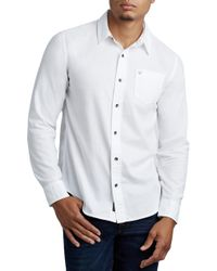 True Religion - Solid Essential Sport Shirt - Lyst
