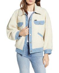 Wrangler - Fleece & Denim Jacket - Lyst