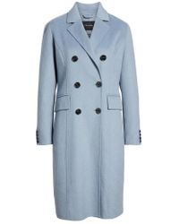 Tahari - Taylor Double Breasted Wool Coat - Lyst