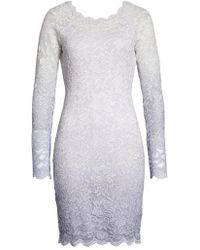 Sequin Hearts - Ombre Glitter & Lace Sheath Dress - Lyst