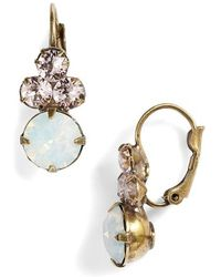 Sorrelli - Wisteria Crystal Drop Earrings - Lyst