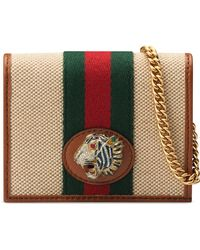 960f8feda047 Gucci Ghost Card Case in Red - Lyst