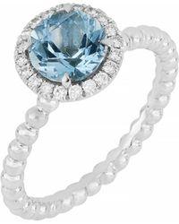 Bony Levy - Diamond & Aquamarine Ring (trunk Show Exclusive) - Lyst