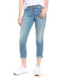 7 For All Mankind - 7 For All Mankind Josefina Crop Boyfriend Jeans - Lyst