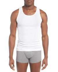 2xist - 3-pack Cotton Tanks, White - Lyst