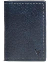 Trask - 'jackson' Gusset Pocket Bison Leather Card Case - Lyst