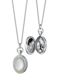 Monica Rich Kosann - Rock Crystal Oval Locket Necklace - Lyst
