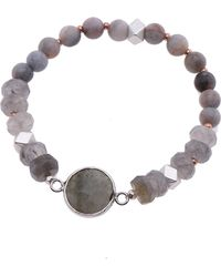 Nakamol - Faceted Stone Stretch Bracelet - Lyst