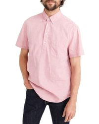 J.Crew | J.crew Stretch Secret Wash Short Sleeve Popover Shirt | Lyst