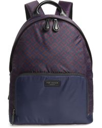 bc1a3419a7f75 Lyst - Ted Baker Koiyo Printed Neoprene Backpack in Blue for Men
