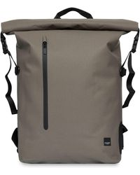 43ae81cc4a Lyst - Boohoo Pu Roll Top Back Pack With Zip Detail in Black for Men