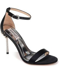 Badgley Mischka - Vicia Crystal Embellished Heel Sandal - Lyst
