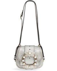 aaff85557506 Miu Miu - Dahlia Leather Shoulder Bag - Metallic - Lyst