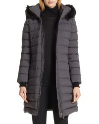 Burberry - Limehouse Quilted Down Puffer Coat With Removable Genuine Shearling Trim - Lyst