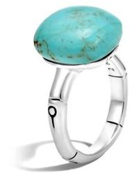 John Hardy - Orb Cut Ring With Turquoise - Lyst