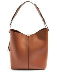 TOPSHOP - Hettie Faux Leather Hobo Bag - Lyst