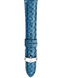Michele - 16mm Seamist Blue Fish Skin Watch Strap - Lyst