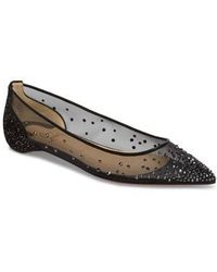 811b7308a7d1 Christian Louboutin - Follies Strass Crystal Embellished Flat - Lyst
