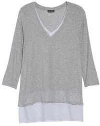 Vince Camuto - Two By Mixed Media Tunic - Lyst