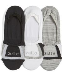Zella - 3-pack Low Profile Socks, White - Lyst