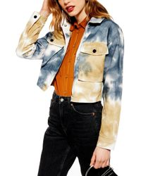 TOPSHOP - Leon Tie Dye Shirt Jacket - Lyst