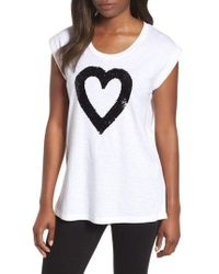 Kenneth Cole - Sequin Heart Top - Lyst