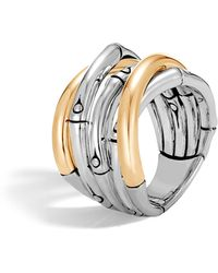John Hardy - Bamboo Gold Sterling Silver Ring - Lyst