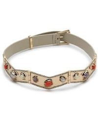 Alexis Bittar - Leather Hinged Choker Necklace - Lyst
