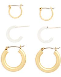 Madewell - Set Of 3 Mini Hoop Earrings - Lyst